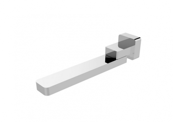 Square bathroom wall swivel bath spout watermarks