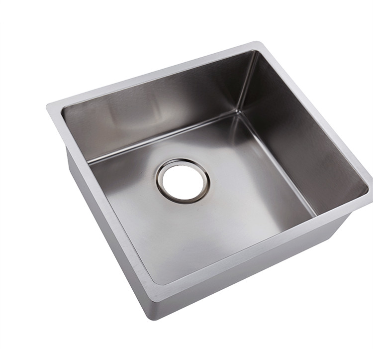 304 stainless steel under counter handmade kitchen/laundry sink single