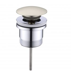 Universal Basin Bathtub Pop Up Plug and Waste 32mm/40mm Brushed Nickle
