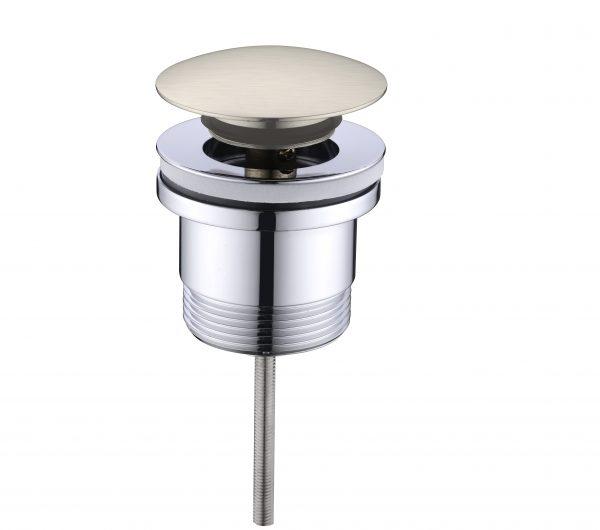 Universal Basin Bathtub Pop Up Plug and Waste 32mm/40mm Brushed Nickle