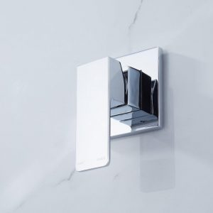 QUAZ square shower bath mixer chrome