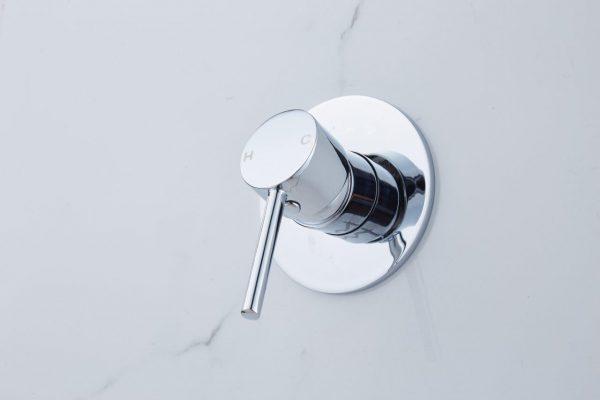 PIN lever round bath shower mixer chrome
