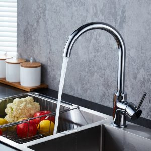Goose Neck Swivel Kitchen Sink Mixer Taps Laundry Sink Mixer