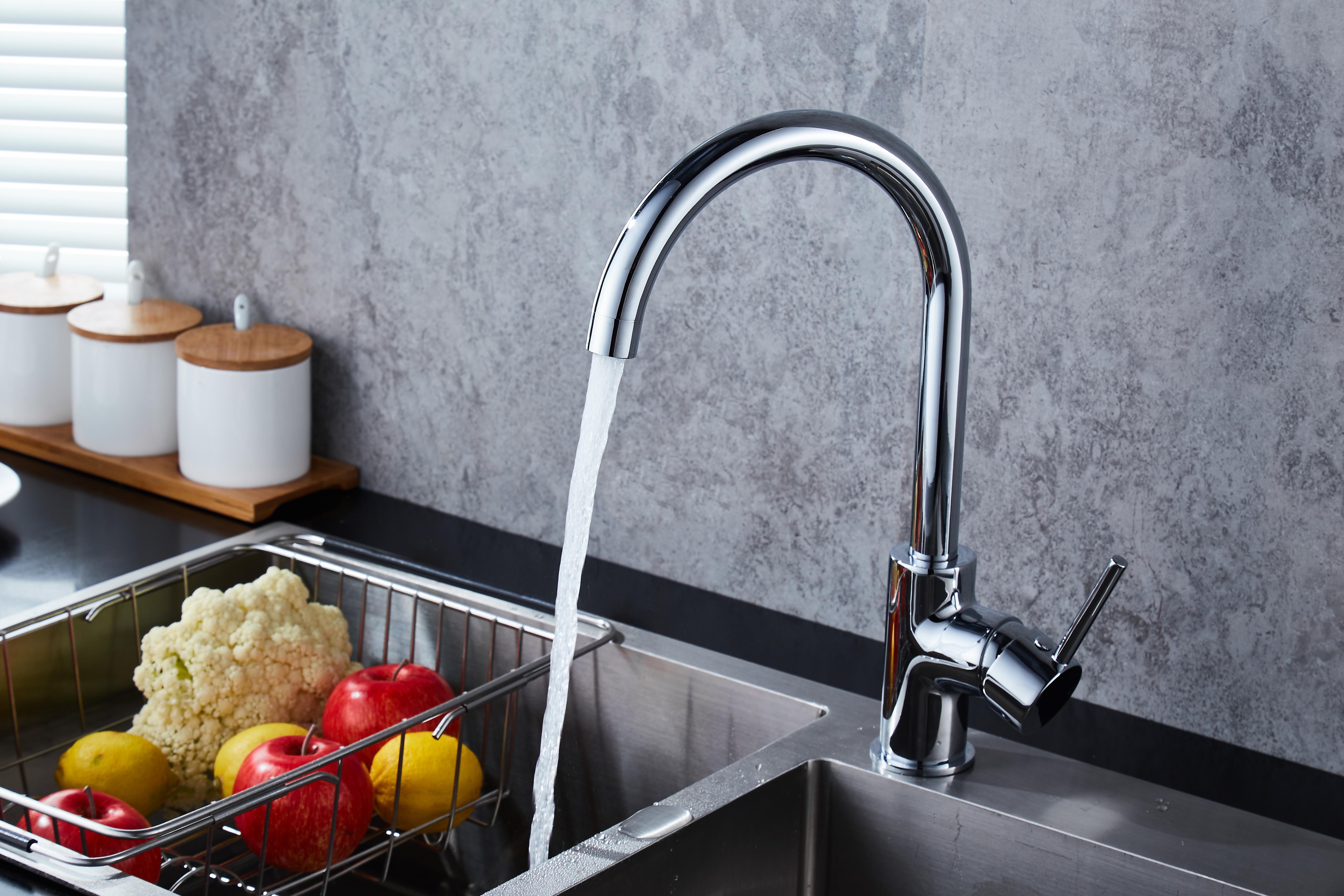 Goose Neck Swivel Kitchen Sink Mixer Taps Laundry Sink Mixer - Rio ...
