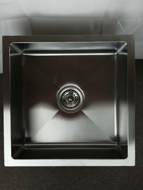 304 Handmade Stainless Steel Single Undermount Bar Kitchen