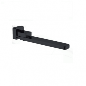 Square matt black bath/basin wall swivel water spout