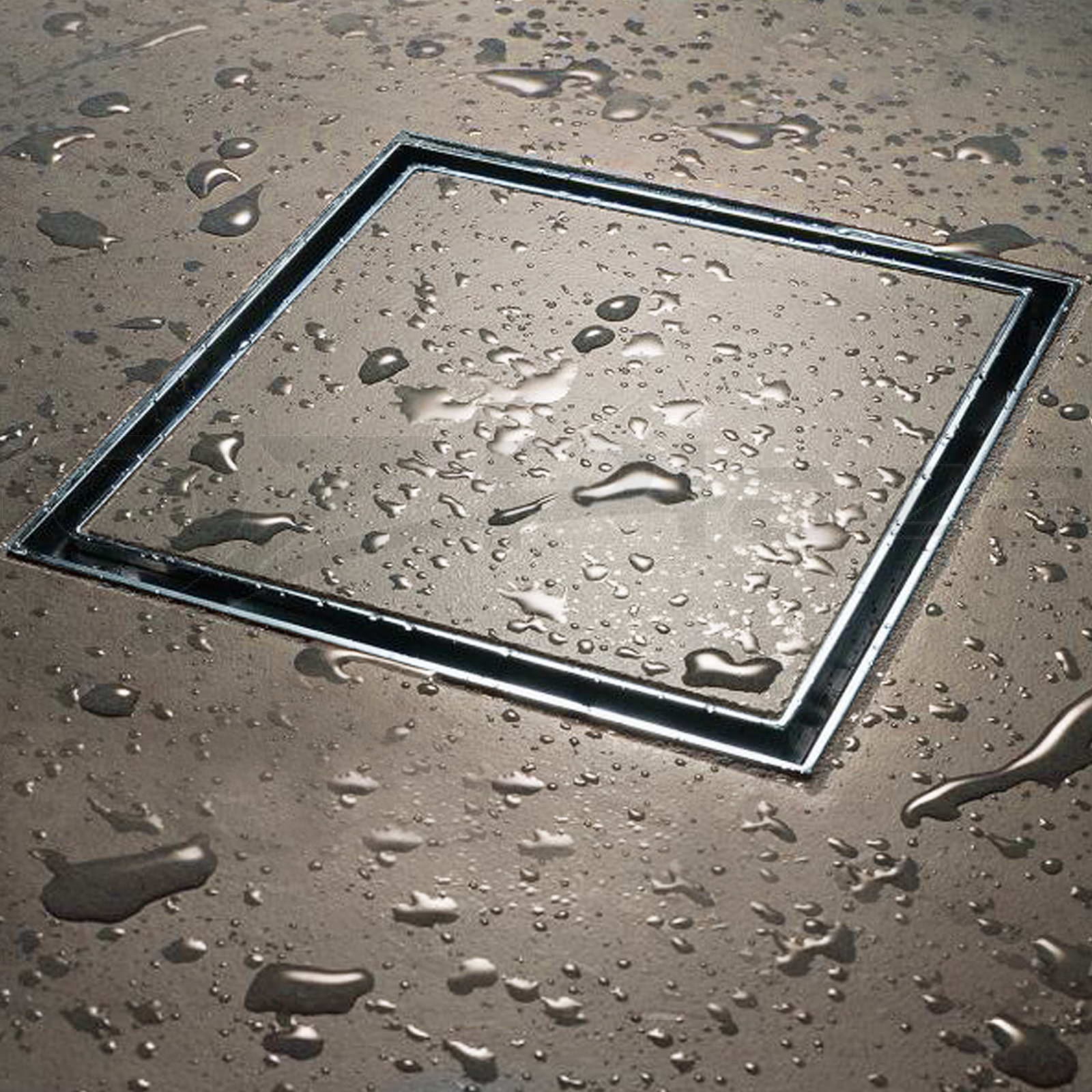 Square Tile Insert Floor Waste Tile Insert Grate 100mm Outlet