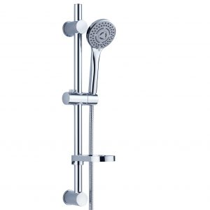 Round shower rose sliding bar with massage shower head