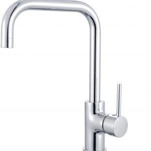 RIO Slim Square Line Sink Mixer Goose Neck Kitchen Mixer Laundry Tap
