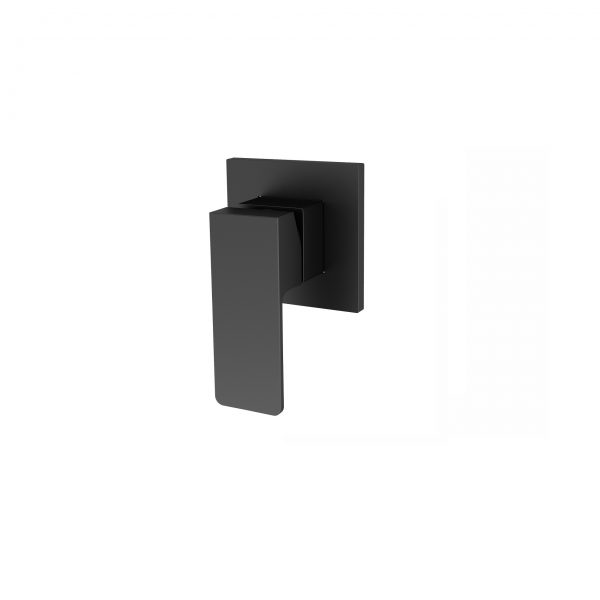 QUAZ Square shower bath mixer matt black