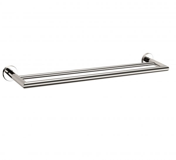 Pin 700mm round double towel rail