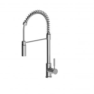 304 Stainless Steel Spring Pull Down Veggie Spray Sink Mixer