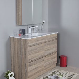 Rio 1200mm free standing vanity with ceramic top