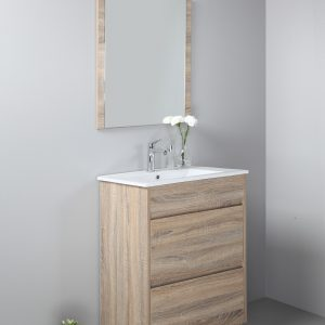 Rio 600mm free standing vanity with ceramic top