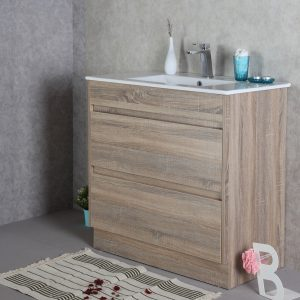 Rio 900mm free standing vanity with ceramic top