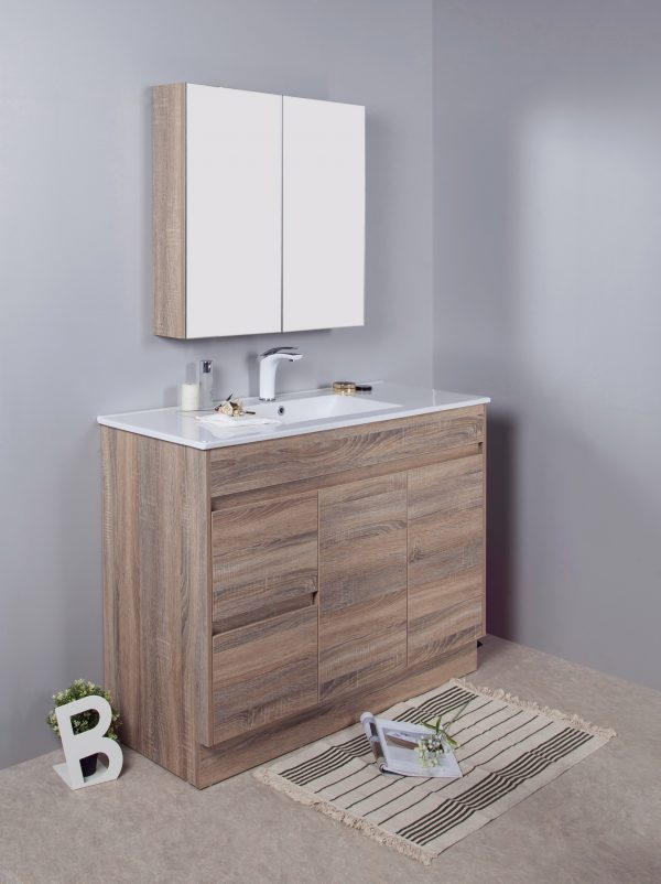 1200mm oak floor standing vanity