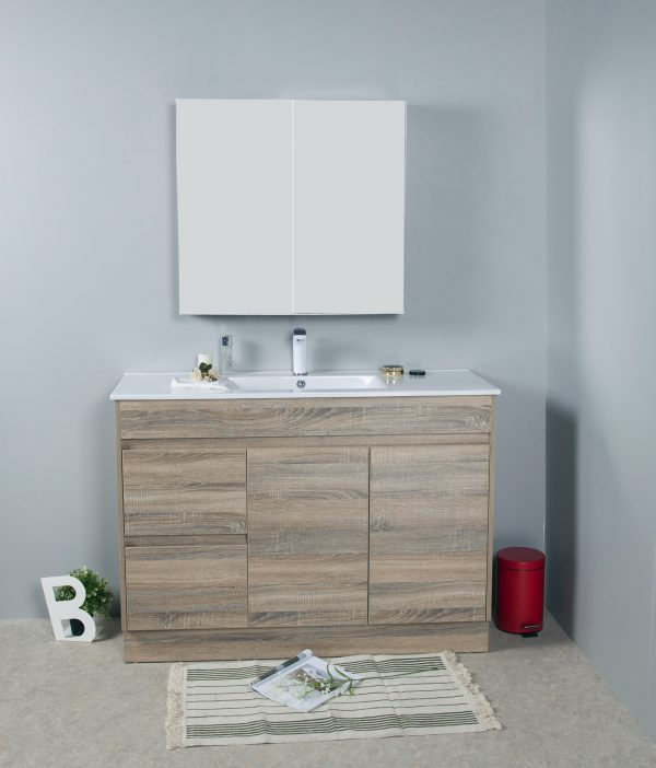 1200mm oak floor standing vanity only