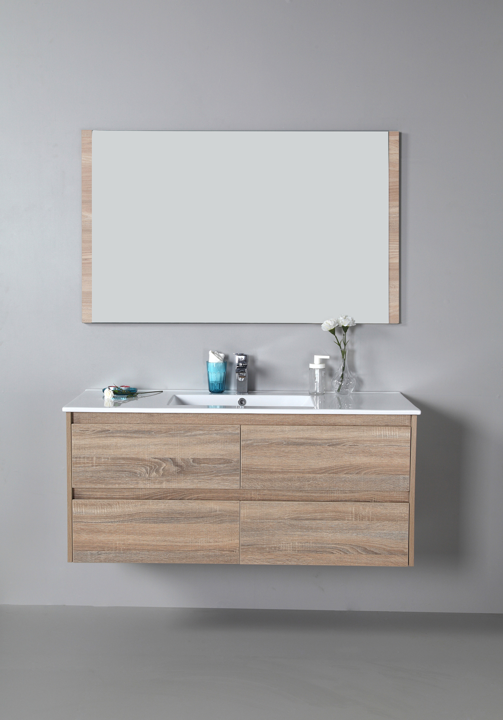 Rio 1200mm wall hung vanity cabinet only for Wall mounted bathroom vanity cabinet only