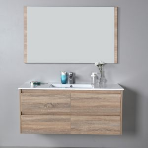 Rio 1200mm wall hung vanity with ceramic top