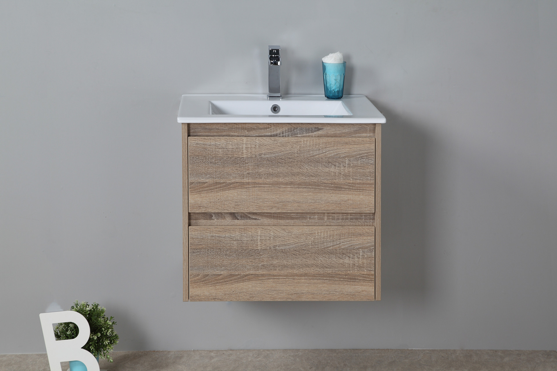Rio 600mm wall hung vanity cabinet only rio bathroom warehouse for Wall mounted bathroom vanity cabinet only