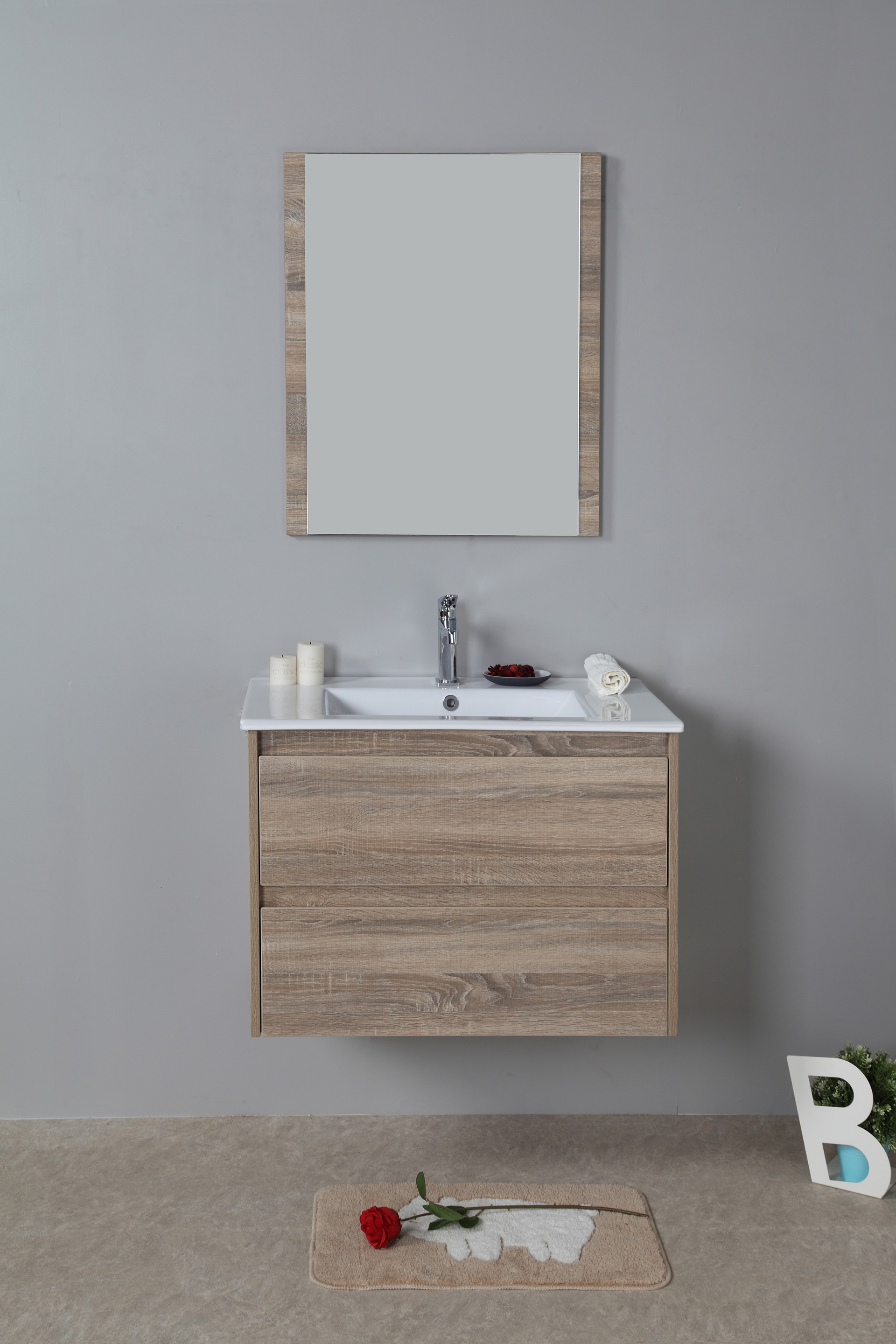 Rio 750mm wall hung vanity cabinet only rio bathroom warehouse for Wall mounted bathroom vanity cabinet only