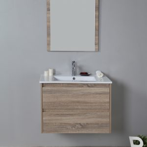 Rio 750mm wall hung vanity with ceramic top