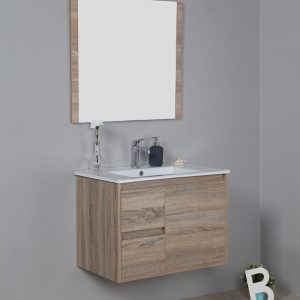 750mm oak wall hung vanity