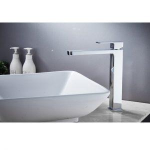 QUAZ square tall basin mixer chrome