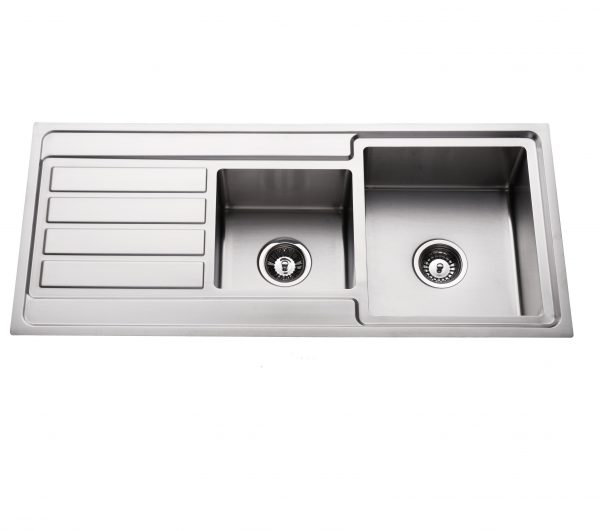 304 stainless steel 1/4 bowl top mount kitchen sink right hand