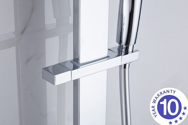 square shower rail