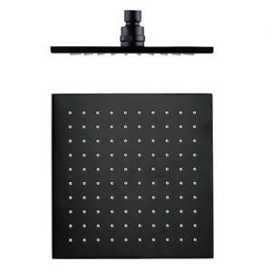 250mm Square Shower Head Matt Black