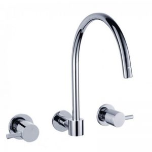 Pin wall kitchen laundry sink tap set