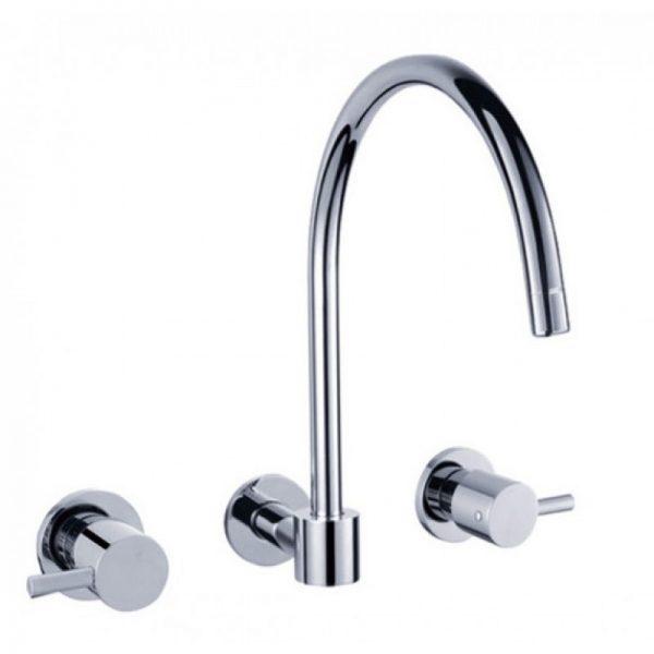 Pin wall kitchen laundry sink tap set