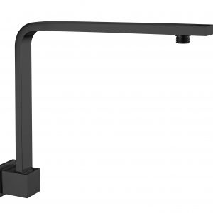 Quaz square swivel shower arm matt black