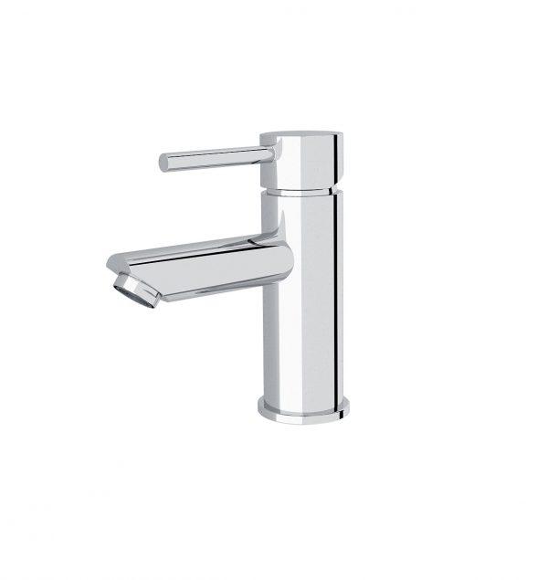 Pin lever round bathroom vanity basin mixer chrome