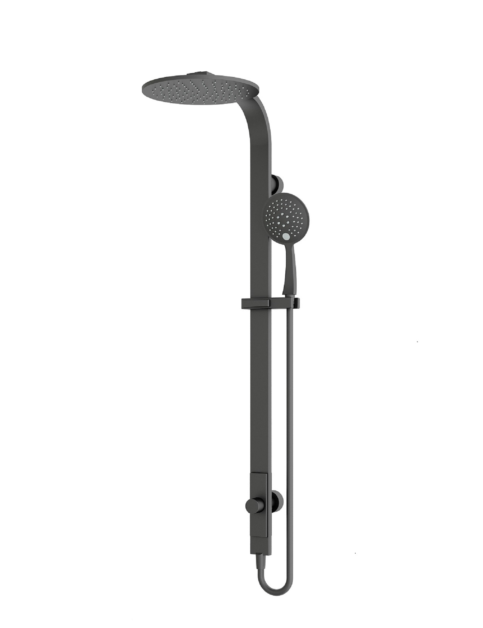 Luxury Black Round Rain Shower Set With Handheld Shower