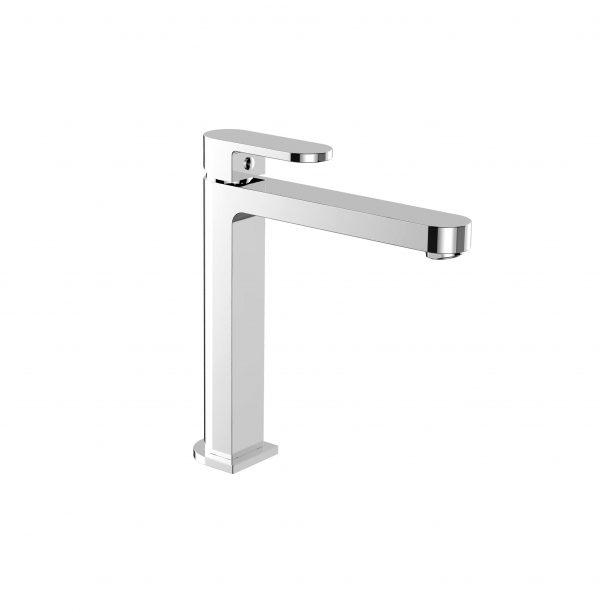 RIO round bathroom vanity tall basin mixer chrome
