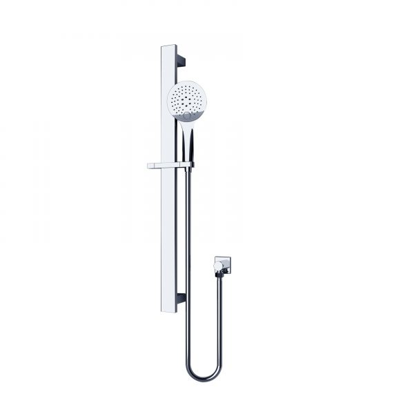 Round Rain Shower Rail 3 JETS Massage Function Chrome