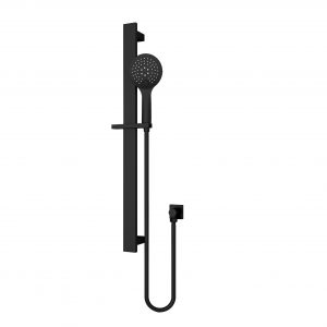Round Rain Shower Rail 3 JETS Massage Function Matt Black