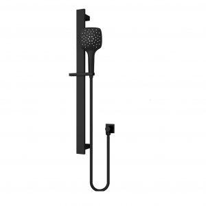 Square Rain Shower Rail 3 JETS Massage Function Matt Black