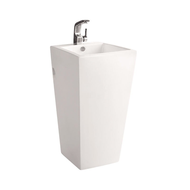 Square freestanding pedestal basin