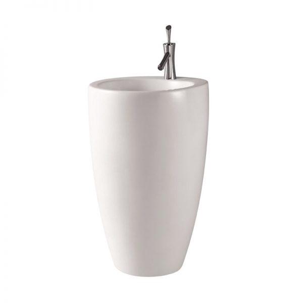 Oval freestanding pedestal basin
