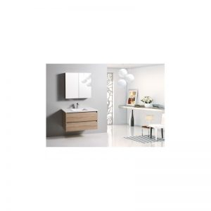 Rio 900mm wall hung vanity with ceramic top