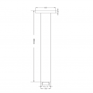 square ceiling shower arm