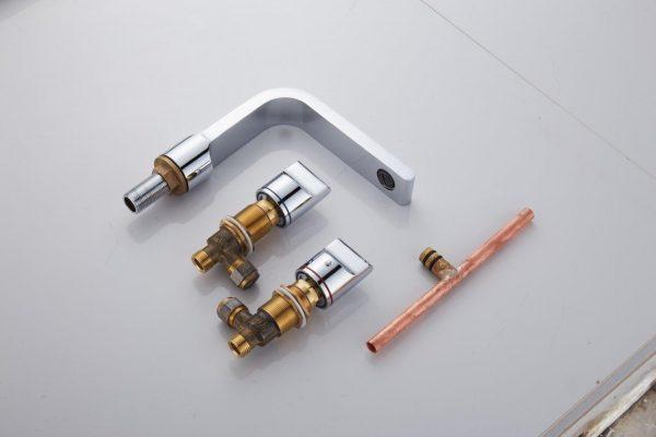 buckle 3 piece basin set tapware