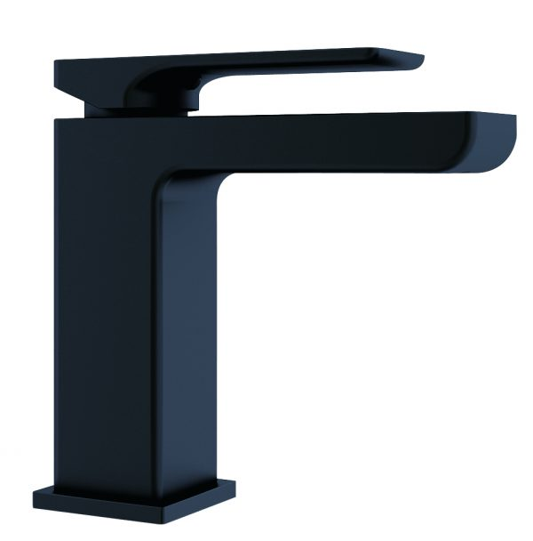 Astro square vanity basin mixer matt black