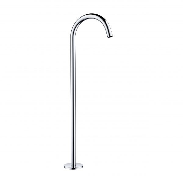 Round goose neck floor mounted free standing bath spout