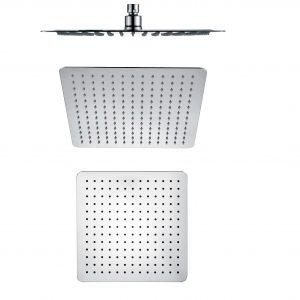 300mm 304 stainless steel chrome square ultra slim shower head