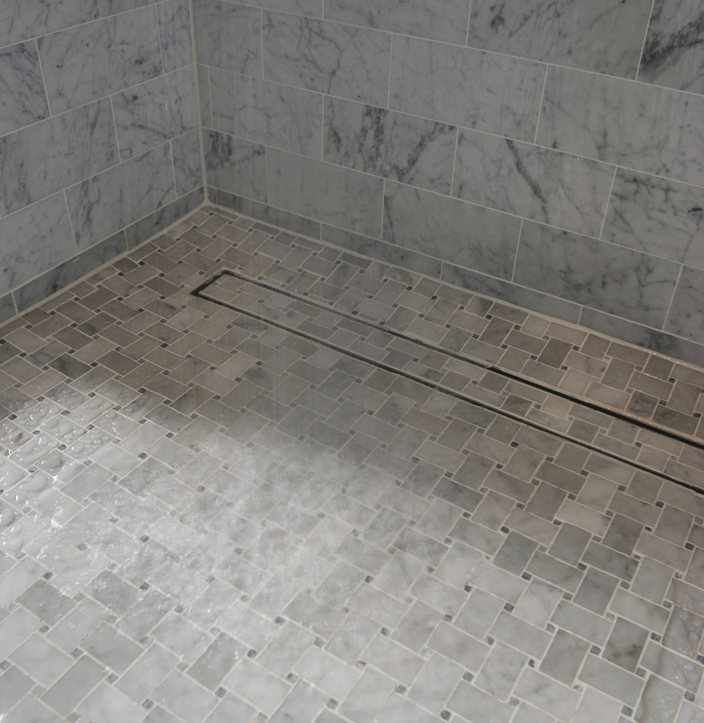 1000mm 316 Stainless Steel Shower Grate With Tile Insert