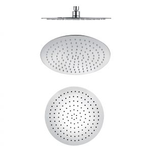 300mm 304 stainless steel chrome round ultra slim shower head